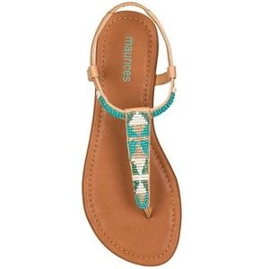 Maurices Bead Thong Sandals